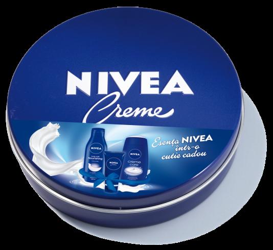 Pachet special de Craciun NIVEA Lapte de corp hidratant, Gel de dus crema Creme Care si NIVEA Creme